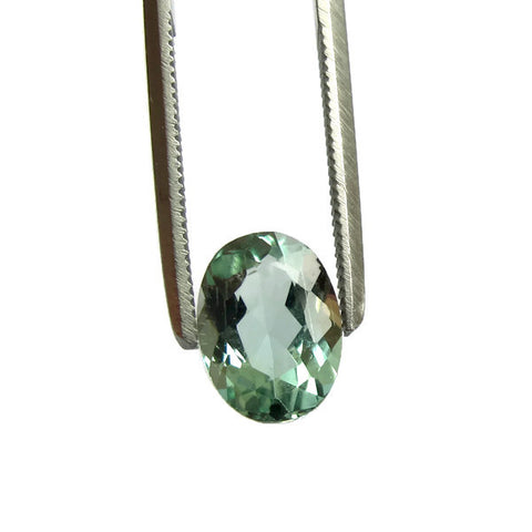 Natural mint tourmaline oval cut 9x7mm gemstone