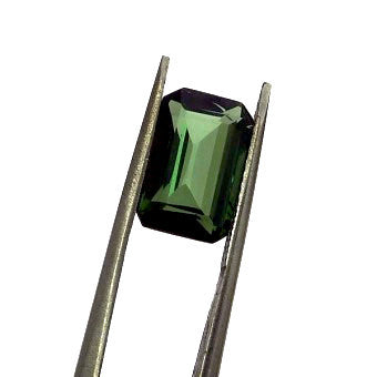 Extra quality green tourmaline - Emerald cut - 10 x 6 mm
