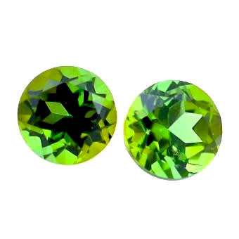 green tourmaline round cut 5mm natural gemstone from Brazil