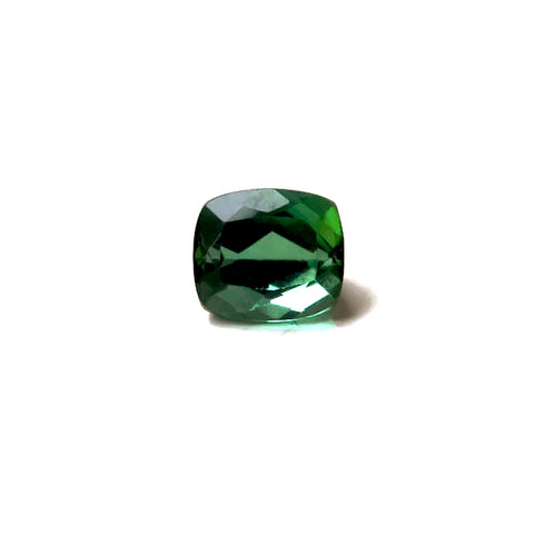 green cushion tourmaline gemstone