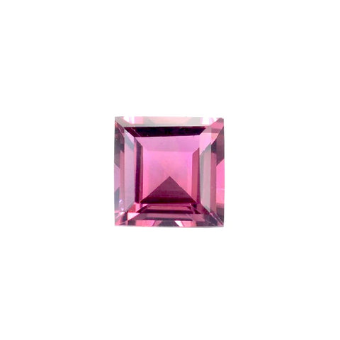 pink tourmaline square cut 5mm loose gemstone