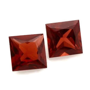 natural garnet square princess cut 5mm gemstone