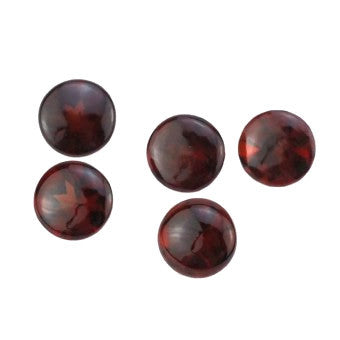 Garnet round cut with table/top polished - 7 mm
