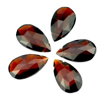 Garnet pear briolette cut - 12 x 7 mm