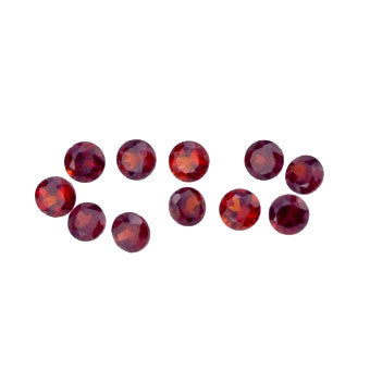 Natural garnet round brilliant cut 5.5mm gemstone