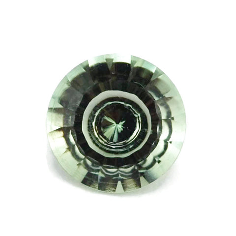 Green Amethyst - Prasiolite - round king cut - 10 mm