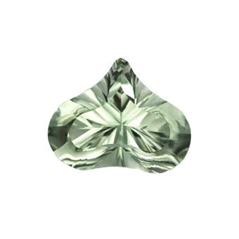 Green Amethyst - Prasiolite - Free form pear shape - 14 x 11 mm