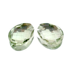 green amethyst prasiolite briolette 16x8mm loose gemstone