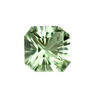 Natural green amethyst asscher cut 10mm loose gemstone
