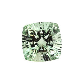 green amethyst prasiolite cushion concave 18mm loose gemstone