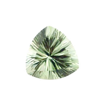 natural green amethyst trillion concave cut 12mm fine loose gemstone