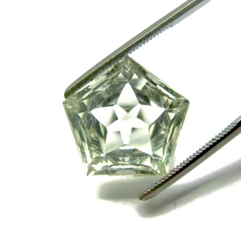 natural green amethyst or prasiolite star pentagon cut loose gemstone