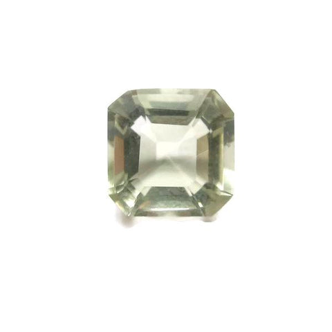 Natural green amethyst asscher cut 7.25mm loose gemstone
