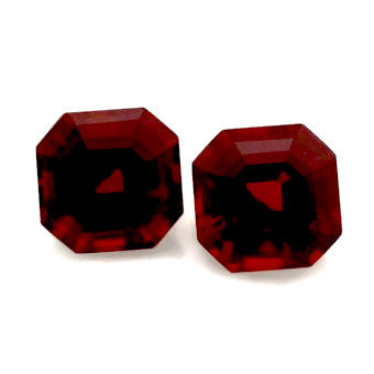 garnet asscher cut octagon 6mm loose gemstone