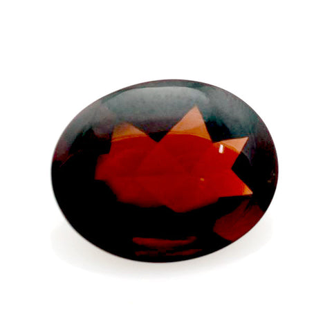 Natural garnet oval buff-top cut 10x8mm loose gemstone