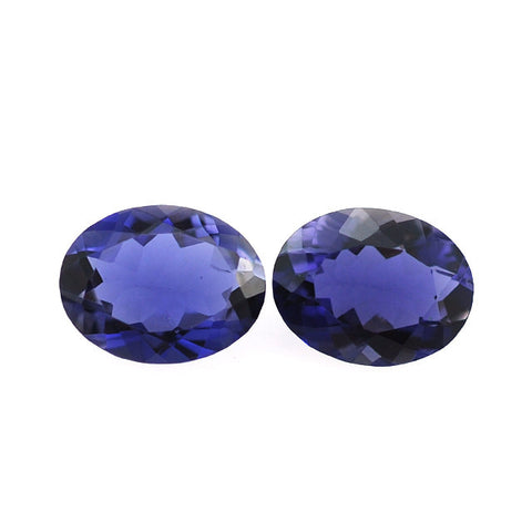 Iolite oval cut- 8 x 6 mm