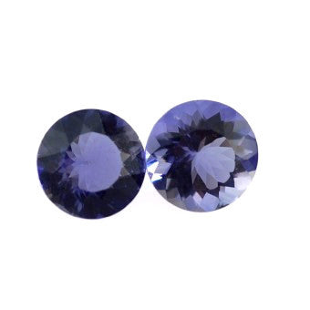 Natural iolite round brilliant cut 7mm gemstone