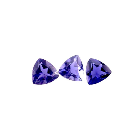 Natural iolite trillion cut 4mm gemstone