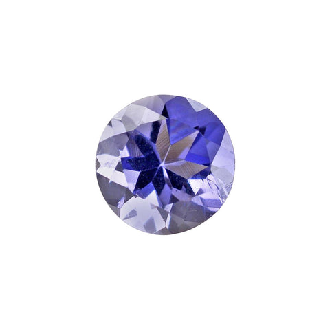 Natural iolite round cut 5mm gemstone