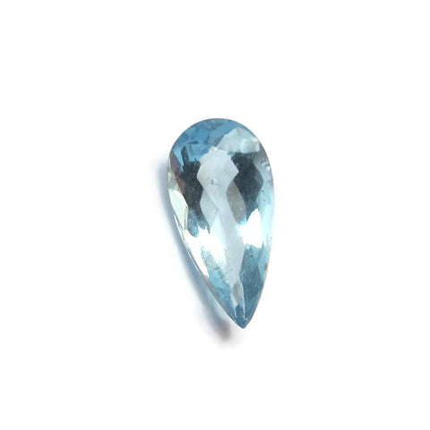 aquamarine pear cut 8.5x4mm  natural gemstone from Brazil