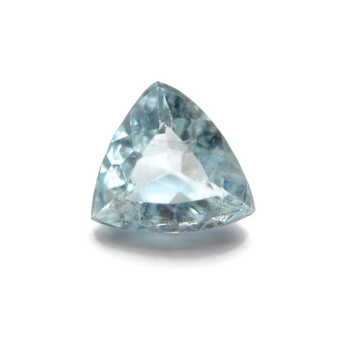 aquamarine trillion cut 6.5mm natural gemstone