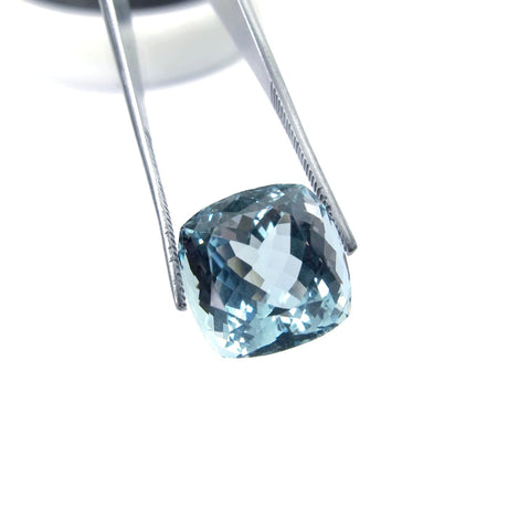 aquamarine blue cushion cut 12mm extra quality natural gemstone