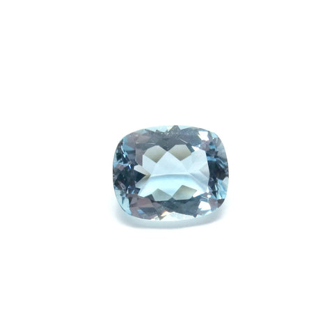 aquamarine blue cushion cut 11x9mm loose gemstone