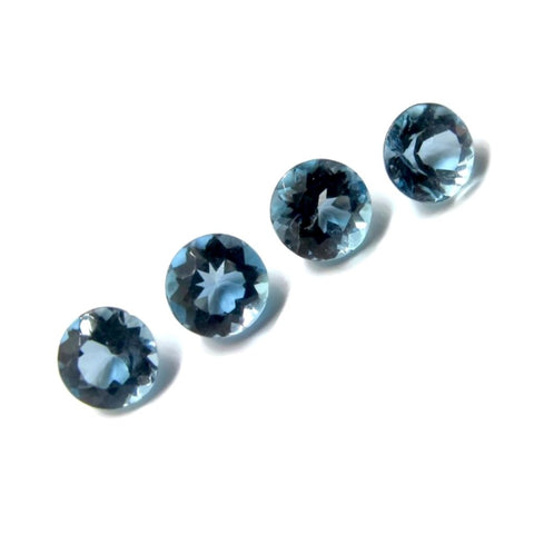aquamarine round 5mm loose gemstone extra aquality AAAA