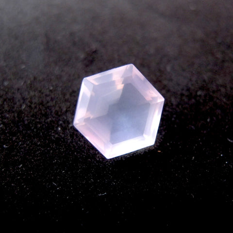 rose quartz hexagon 10mm natural stone