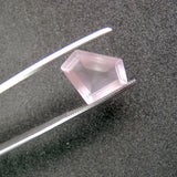 rose quartz pentagon step-cut 14x10mm loose gemstone