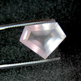 rose quartz pentagon step-cut 14x10mm natural gem
