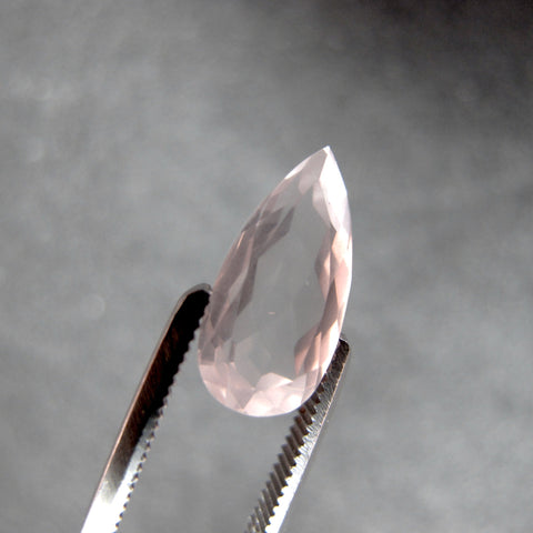 rose quartz pear cut 12x6mm loose gemstone