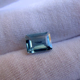 Aquamarine emerald octagon cut - 9x7mm - AAAA