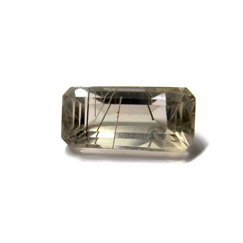 rutile quartz golden octagon cut 16x8mm natural stone