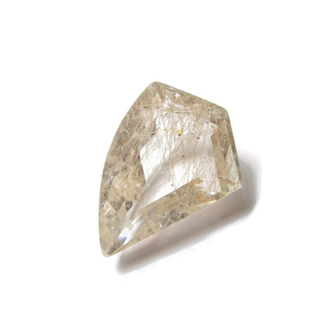 rutile quartz golden free-form 23x17mm loose gemstone
