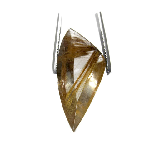 rutile quartz golden free-form 29x13mm loose gemstones