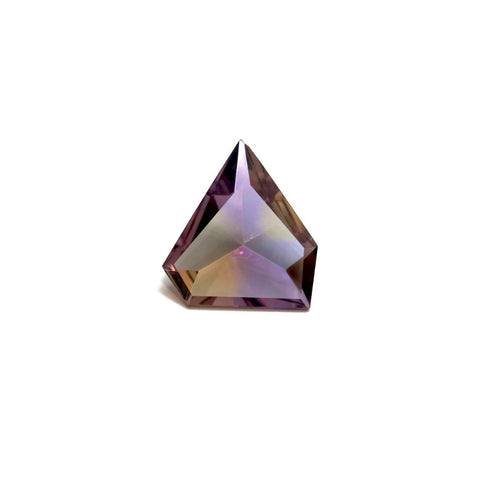 ametrine purple yellow 18x15mm pentagon free form extra-quality gem