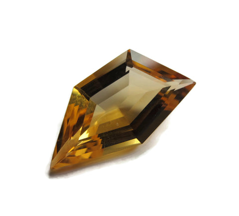 citrine golden yellow pentagon free-form 9mm loose gemstone