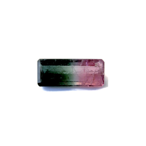 watermelon tourmaline pink green emerald cut 14x6mm
