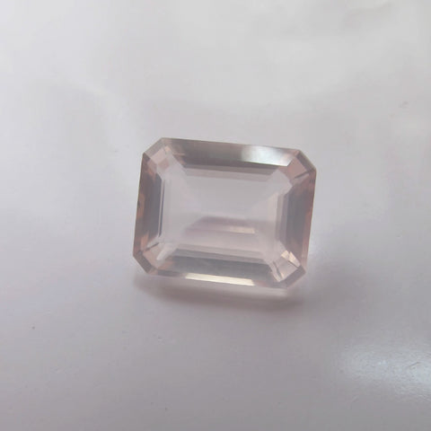 natural rose quartz octagon rectangle cut 8X6mm loose gemstone