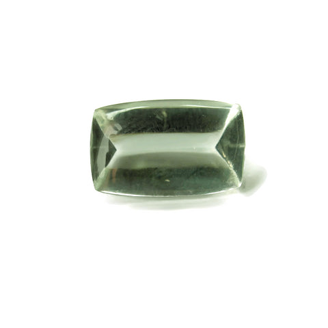 green amethyst prasiolite baguette mirror buff-top cut 16x10mm gemstone