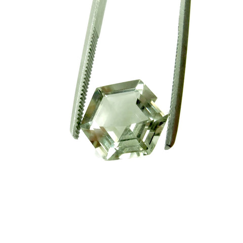 Green Amethyst hexagon - 10mm