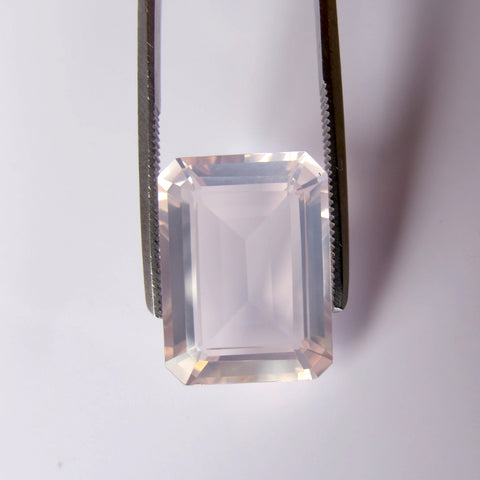 Rose Quartz octagon cut - 16x12mm
