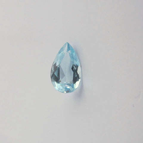 Aquamarine pear cut - 10 x 6 mm