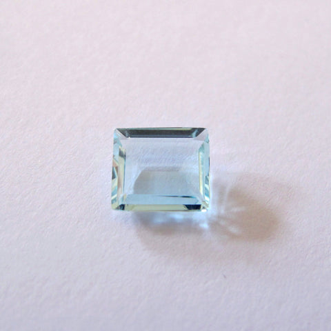Natural aquamarine octagon cut gemstone