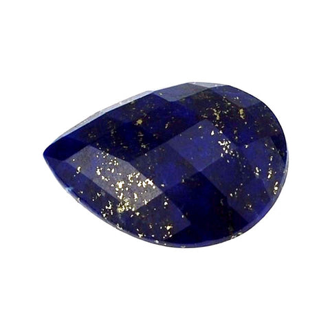 natural lapis lazuli pear cut checkerboard cabochon 18x13mm gemstone