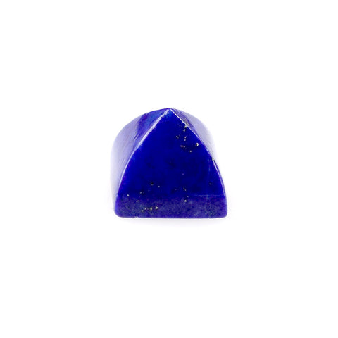 Natural lapis lazuli pyramid cut cabochon 5mm gemstone