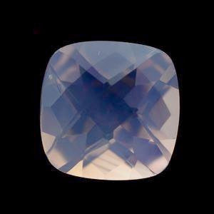 Lavender quartz checkerboard cushion cut 11mm gemstone