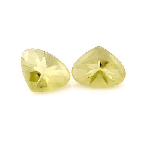 lemon quartz pear fancy cut 17x14mm natural gemstone