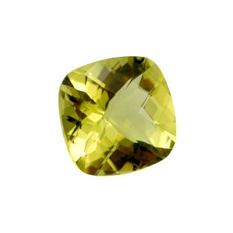 Lemon Quartz - Checker cut cushion - 14 mm